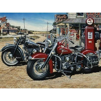 Two Harley's For The Road Diamond Art