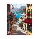 Village Steps Leading to the Ocean - Paint by Numbers Kit