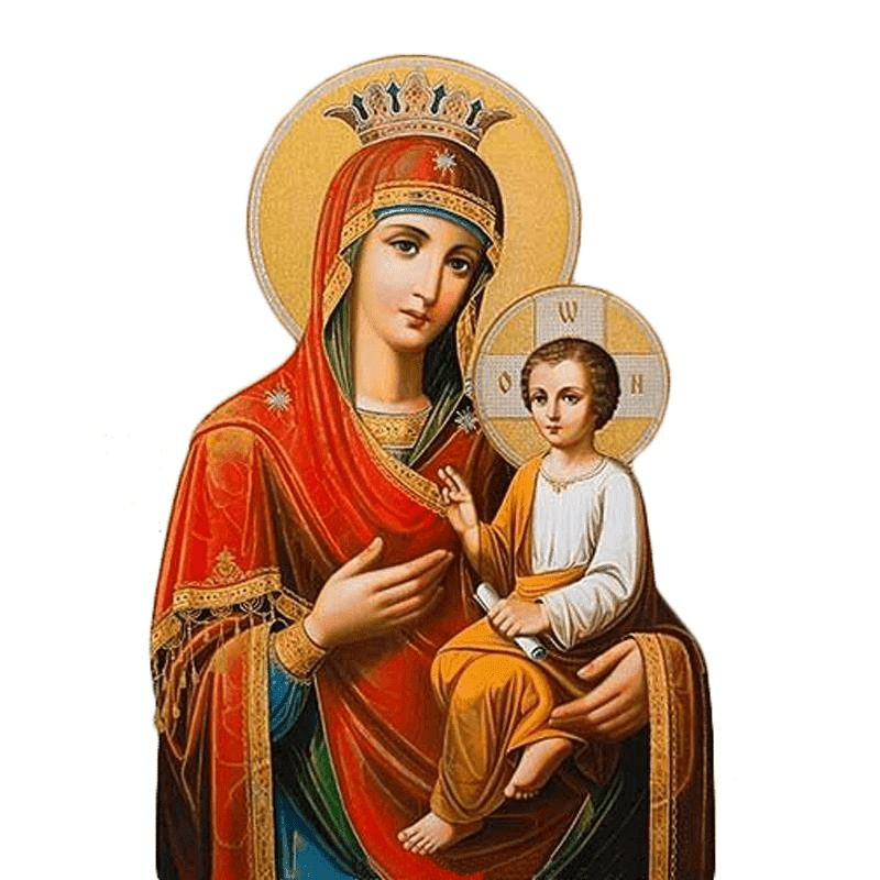 Virgin Mary With Infant Jesus - Paint by Numbers Kit