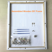 Assembled DIY wooden frame for Meridian Paint by Numbers kit