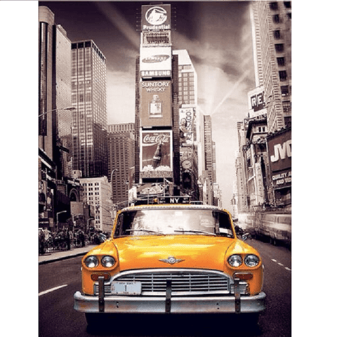 Vintage New York Yellow Cab - Diamond Art Kit