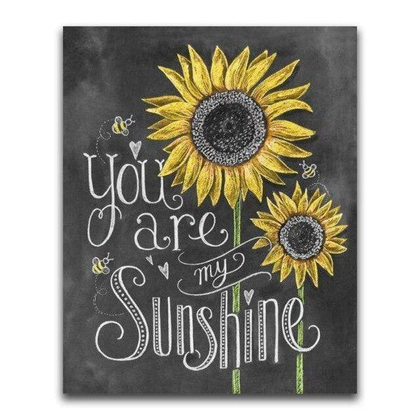 You Are My Sunshine Blackboard - Diamond Art Kit