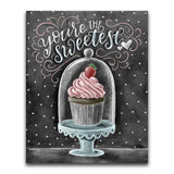 You Are The Sweetest Cupcake - Diamond Art Kit