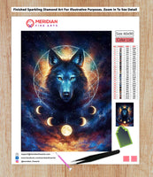 Black Wolf - Diamond Art Kit