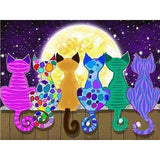 Cats On Fence - Diamond Art Kit