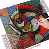 colorful abstract fish canvas