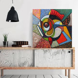 colorful abstract fish on wall
