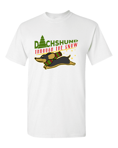 Dachshund Through The Snow Unisex T-Shirt