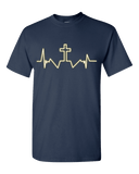 Cross Heartbeat Unisex T-Shirt