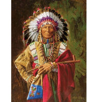 Red Indian Chief - Diamond Art Kit