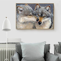 wolf love hanging on wall