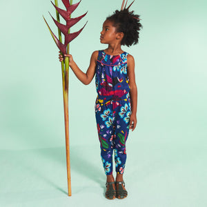 Catimini - Tropical Print Voile Jumpsuit - CL32005 88 – BOYS & GIRLS ONLINE