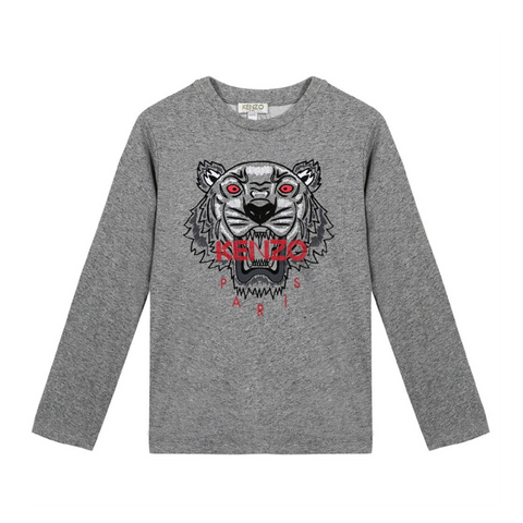KENZO - Tiger 41 Bis Tee Shirt - T-Shirts Long Sleeve Boy at BOYS & GIRLS ONLINE