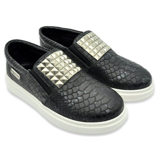 AM66 Sneakers Python Leather with Silver Plate - Kids clothes online | BOYS & GIRLS ONLINE