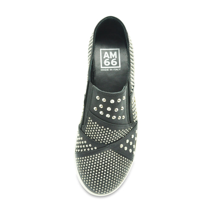 AM66 - Leather Sneakers with Studs - Sneakers Girl at BOYS & GIRLS ONLINE