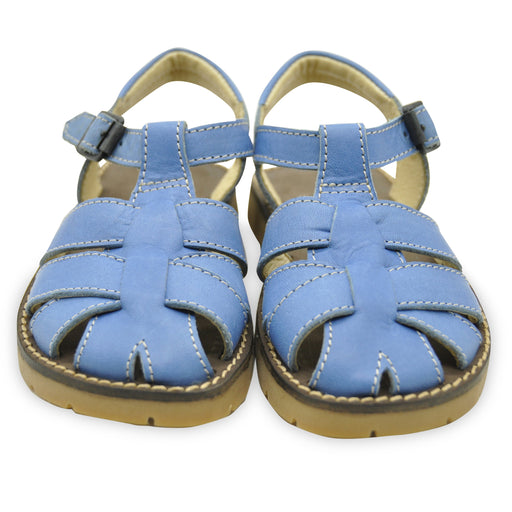 Andrea Montelpare Boys Blue Leather Sandals - Kids clothes online | BOYS & GIRLS ONLINE