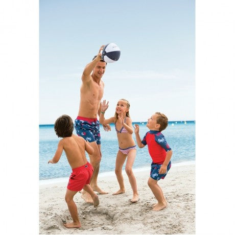 Archimède Boys Red-Blue Beach Top UV with Crab Print-BOYS & GIRLS ONLINE