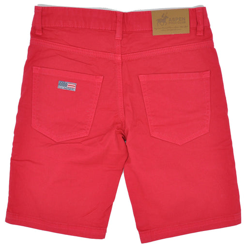 Aspen Polo Club Boys Red Cotton Bermuda Shorts-BOYS & GIRLS ONLINE
