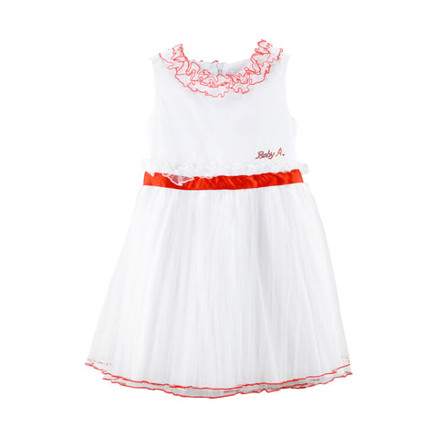 White Dress with Red Belt