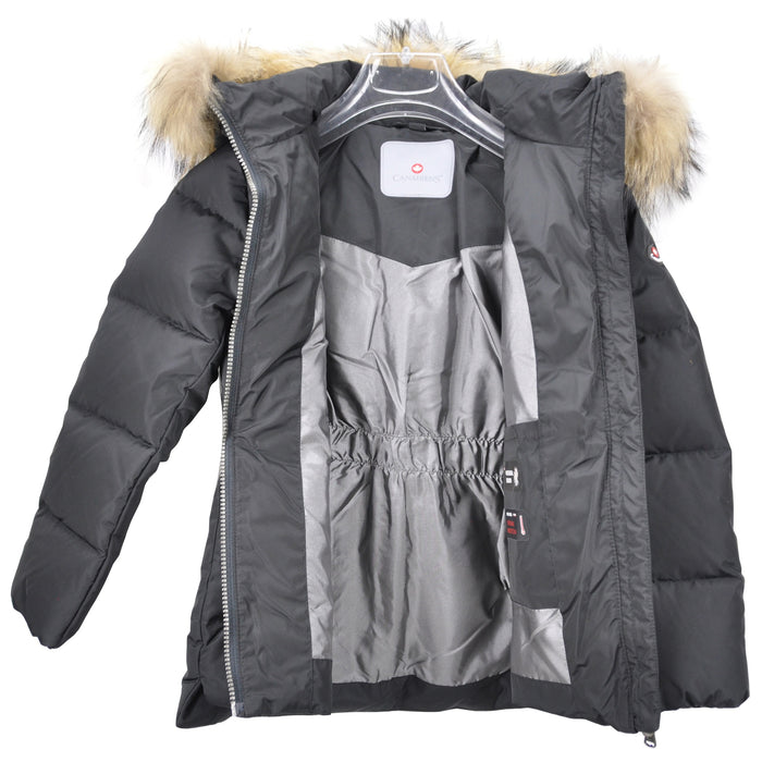Canadiens-Girls Jacket With Natural Raccoon Fur MOLLY/J-boysgirlsonline.com
