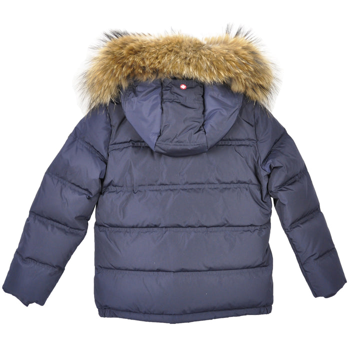 Navy Blue Insulated Windproof Coat BEAVER