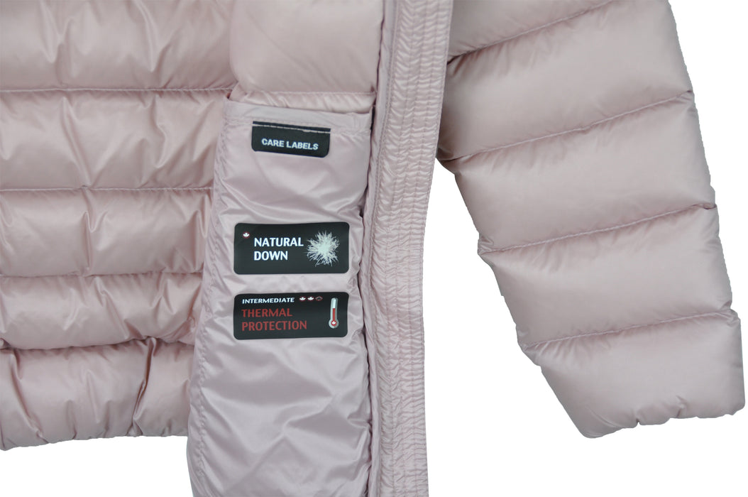Pink Insulated Windproof Coat Lola