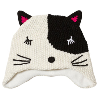 Babygirl Fleece Lined Cat Knit Hat