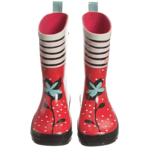 Catimini Girls Red Floral Rain Boots - Kids clothes online | BOYS & GIRLS ONLINE