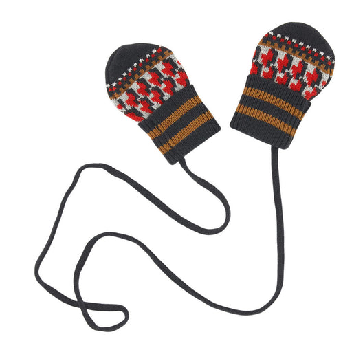 Catimini - Graphic Jacquard Knit Mittens - Kids clothing at BOYS & GIRLS ONLINE