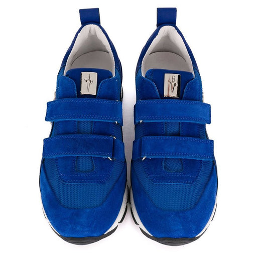 Blue Sneakers with Velcro and Metal Studs