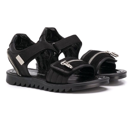 Cesare Paciotti - Boys Black Sandals with Zip Details - Kids clothing at BOYS & GIRLS ONLINE