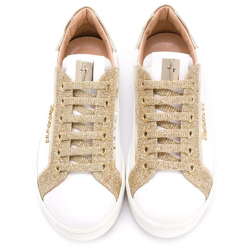Cesare Paciotti-Girls Glitter Low Top Sneakers-boysgirlsonline.com