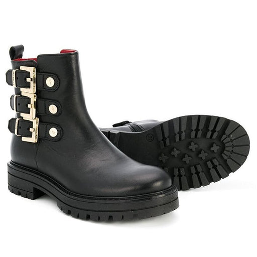 Cesare Paciotti - Side Buckle Black Ankle Boots - Kids clothing at BOYS & GIRLS ONLINE