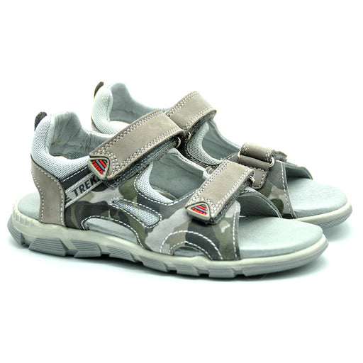Ciciban Boys Camouflage Print Leather Sandals-BOYS & GIRLS ONLINE