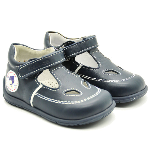 Ciciban Boys Navy Blue Anatomic Shoes with Touch Strap-BOYS & GIRLS ONLINE