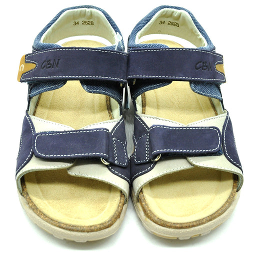 Ciciban Boys Navy Blue Nubuck Leather Sandals with Cork Sole-BOYS & GIRLS ONLINE