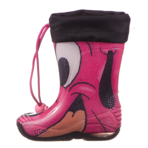 CICIBAN Girls Pink Dog Face Print Rain Boots - Kids clothes online | BOYS & GIRLS ONLINE