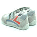 Ciciban Grey Leather Trainers with Double Touch Strap-BOYS & GIRLS ONLINE