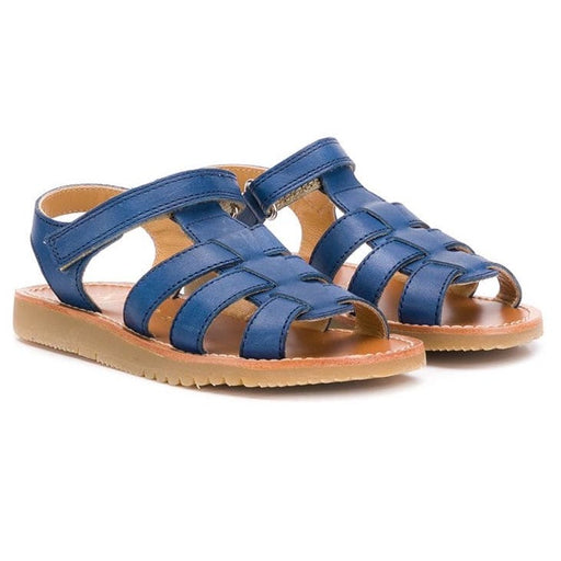 Boys Blue Leather Sandals