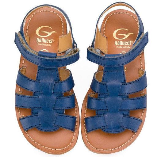 Gallucci Boys Blue Leather Sandals - Kids clothes online | BOYS & GIRLS ONLINE