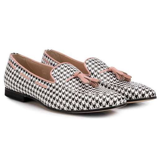 Gallucci - Girls Houndstooth Loafers - Kids clothing at BOYS & GIRLS ONLINE