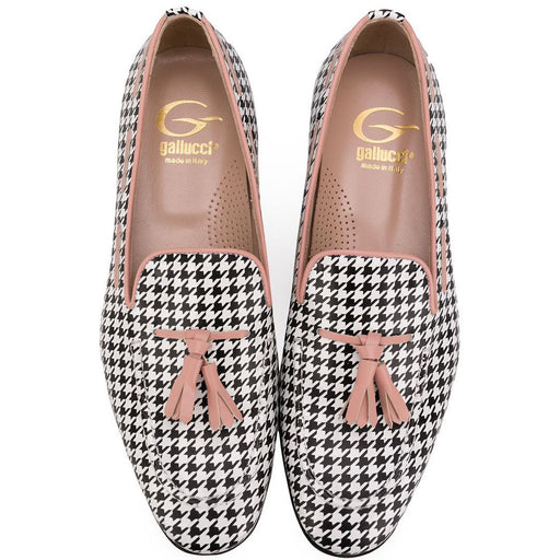 Girls Houndstooth Loafers
