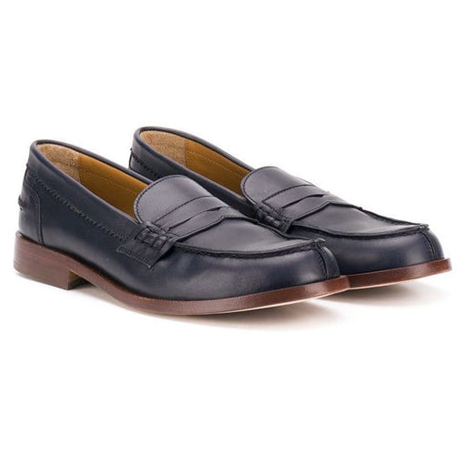 Gallucci - Round Toe Loafers in Black Leather - Kids clothing at BOYS & GIRLS ONLINE