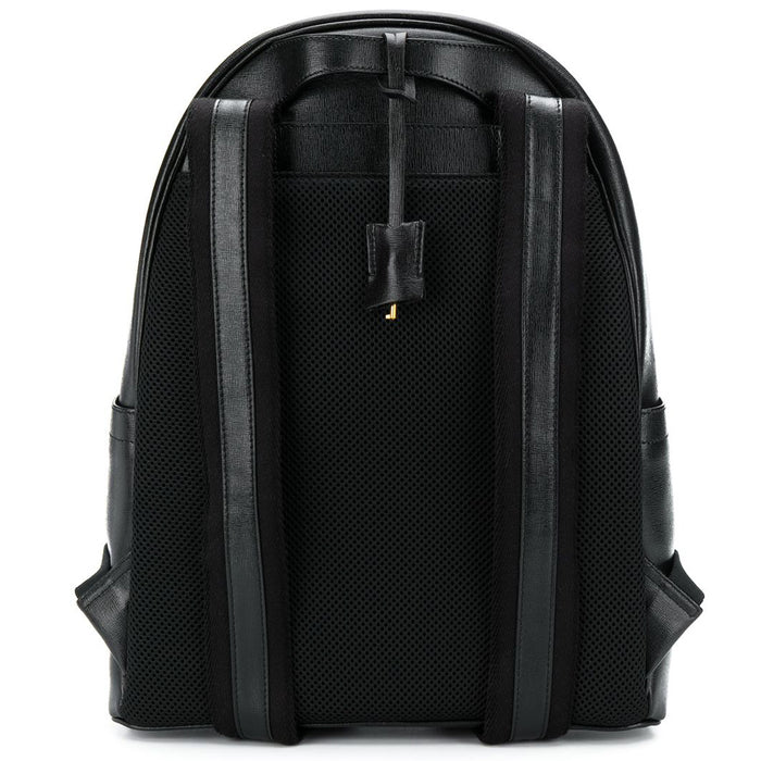 Gallucci Black Textured-Leather Backpack with Gold Details - Kids clothes online | BOYS & GIRLS ONLINE