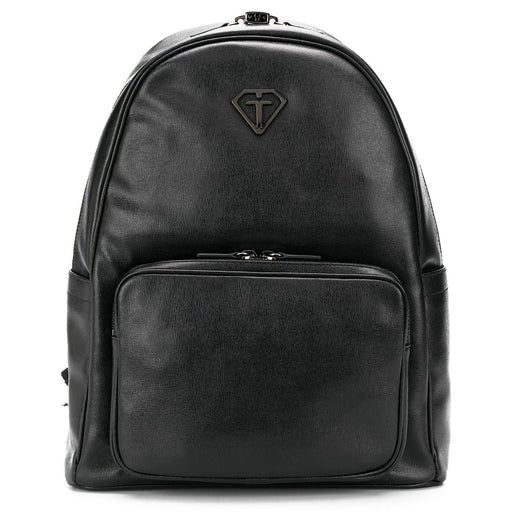 Gallucci - Black Textured-Leather Backpack with Metal Details - Kids clothing at BOYS & GIRLS ONLINE