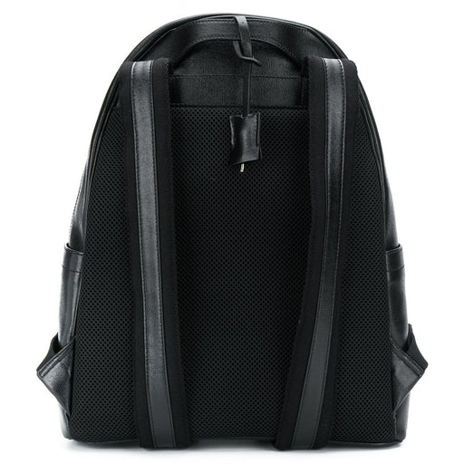 Gallucci-Black Textured-Leather Backpack with Metal Details-boysgirlsonline.com