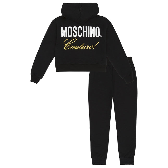 Moschino-Girls Moschino Couture Fleece Full Suit-boysgirlsonline.com