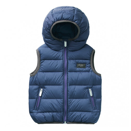 Il Gufo - Blue Padded Sleeveless Down Jacket - Kids clothing at BOYS & GIRLS ONLINE