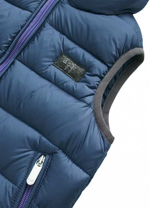 Il Gufo Blue Padded Sleeveless Down Jacket - Kids clothes online | BOYS & GIRLS ONLINE