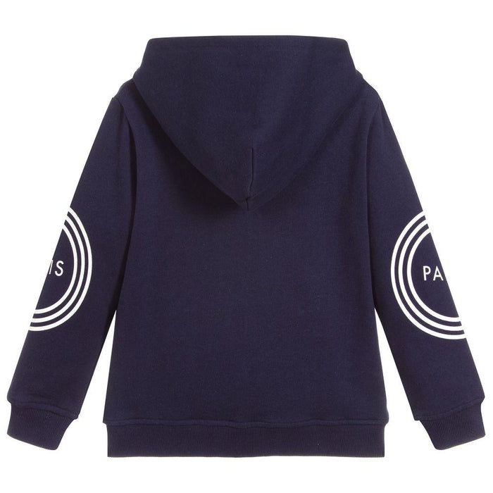 Kenzo Blue Cotton Zip-Up Hooded Top - Kids clothes online | BOYS & GIRLS ONLINE